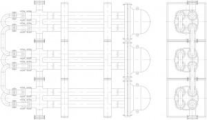 Пример-компановки-элементов-теплообменника-труба-в-трубе-однопоточного-разборного-ТТОР-в-блок