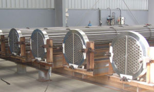 production of plate heat exchangers